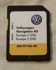 Details about GENUINE VW DISCOVER MEDIA MIB2 SAT NAV NAVIGATION SD CARD  EUROPE V6 3G0919866AQ