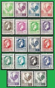 FRANCE-Timbre-serie-complete-d-039-Alger-de-1944-Yt-630-648-NEUF-MNH