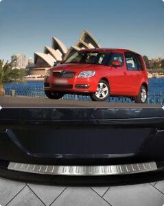 Skoda-Roomstar-2007-2010-Chrome-Rear-Bumper-Protector-Scratch-Guard-S-Steel
