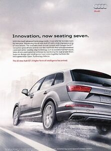 Image Is Loading 2016 Audi Q7 Original Adver Print Art Car