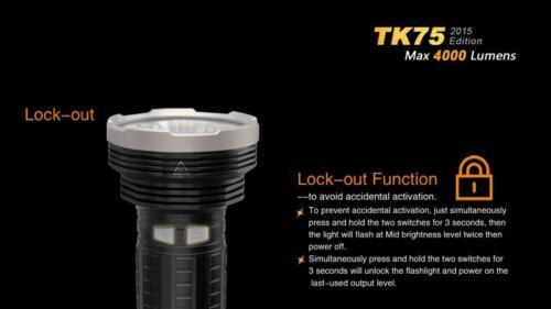Fenix TK75 2015 Quatre CREE XM L2 U2 DEL 4000 lm Lampe Torche//projecteur TM26