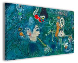 Dettagli su Quadri famosi moderni Marc Chagall vol VIII stampa su tela  canvas arredo poster