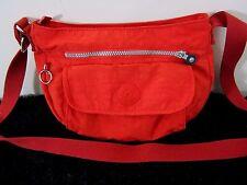 Kipling Red Nylon Crossbody Shoulder Handbag Purse