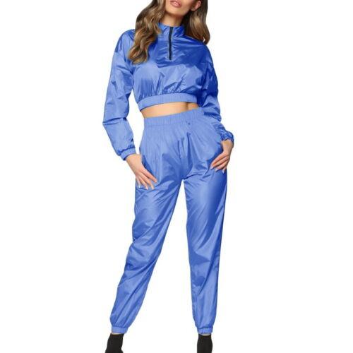 2tlg Damen Trainingsanzug Jogginganzug Langarm Jacket Hosen Sportanzug Fitness