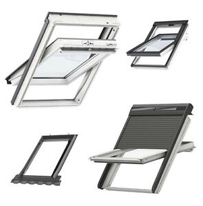 VELUX-MK06-78x118-Kunststoff-Schwingfenster-mit-Solar-Rollladen-Eindeckrahmen