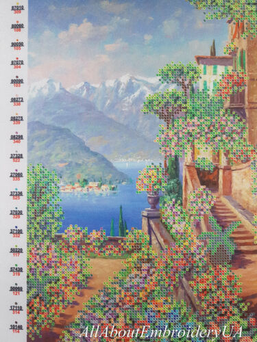 Beach Town Bead Embroidery needlepoint kit beaded cross stitch tapestry kit 3D