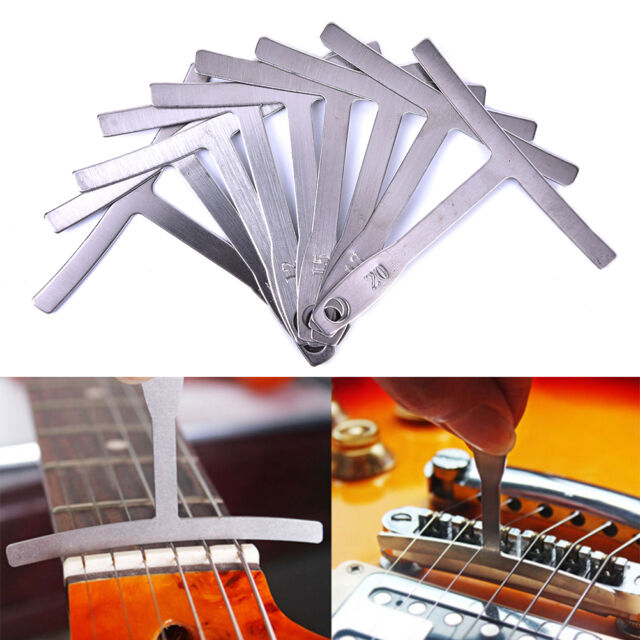 Set of 9 Luthier tools Understring radius gauge for guitar and bass setup T0