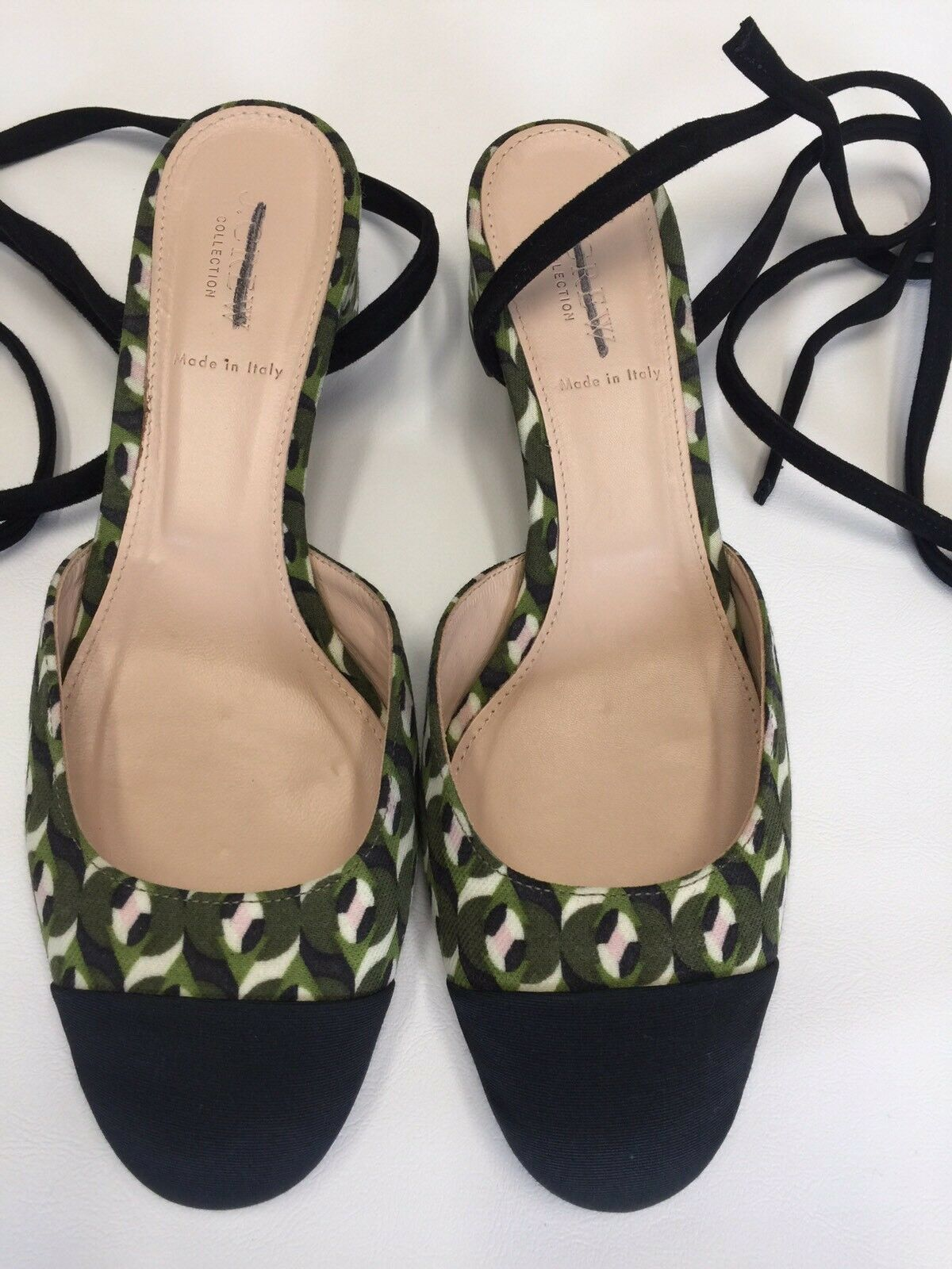 JCrew Collection ankle-wrap heels in Ratti geometric tile print F8013  268 10