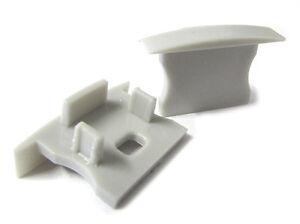 Par-Tapas-Tapas-De-De-Extremos-Para-Cierres-Perfil-Conducto-Barra-Aluminio-Desde