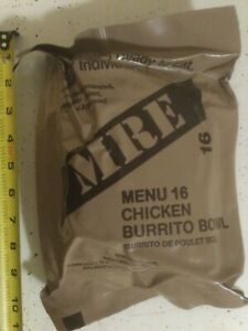 Military Factory Sealed MRE Ready to Eat Menu #16 Chicken Burrito Bowl