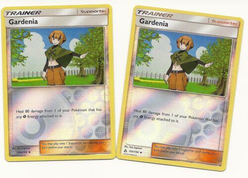 REV HOLO Uncommon Trainer-NM//MINT 2x GARDENIA 124//156 ULTRA PRISM Pokemon Card