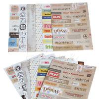 6 Stück Kalender Papier Aufkleber Scrapbooking Tagebuch Planer Fotoalbum Decors
