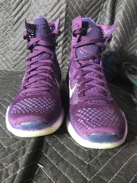 1b071b6bf612 Nike Kobe X Elite 718763-505 Purple Ink Persian Violet Silver Men s Size 9.5