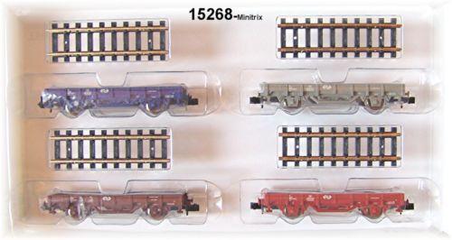 TRIX MINITRIX 15628 SET VAGONI rotaia di NS   NUOVO in scatola originale