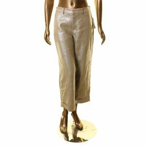 LAUREN-RALPH-LAUREN-NEW-Women-039-s-Linen-Metallic-Wide-Leg-Casual-Pants-14-TEDO