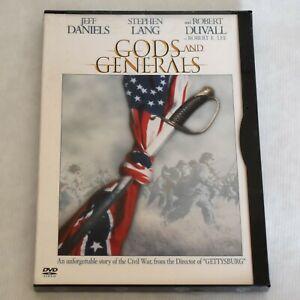 Gods and Generals DVD Jeff Daniels Robert Duvall Civil War Movie 2002 New