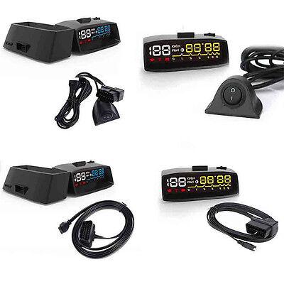 "3.7"" 4F Projector Car OBD2 II EUOBD HUD Head Up Display Overspeed Alarm System"