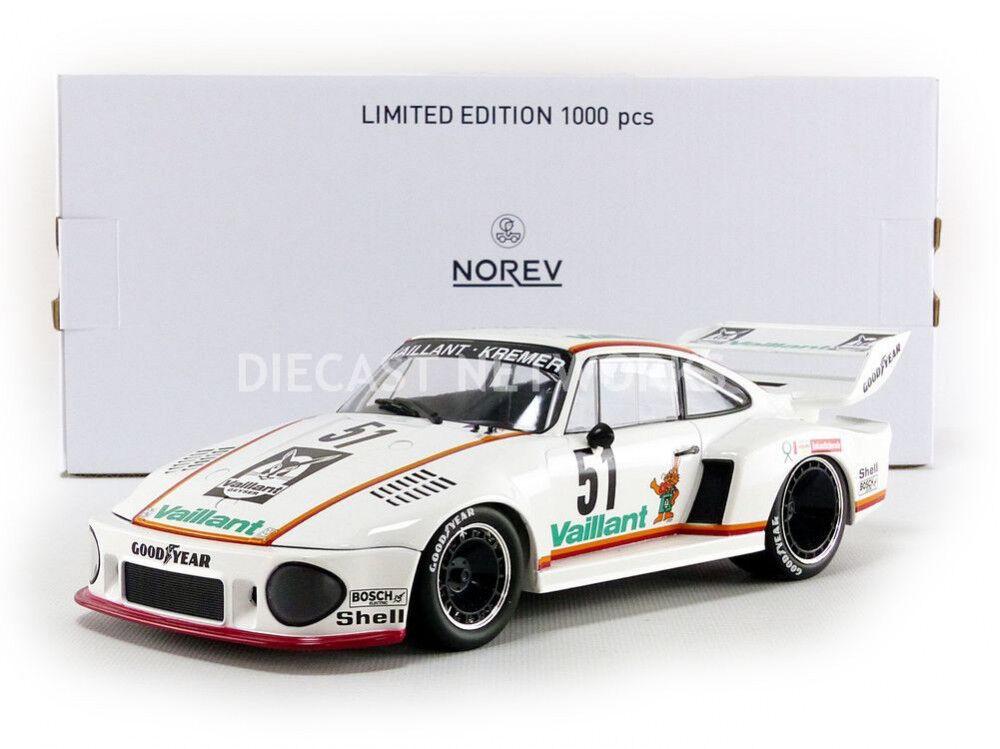 se descuenta Norev Porsche 935 Vaillant Drm Zolder 1977 Wollek    51 1 18 Escala Le de 1000  venta directa de fábrica