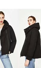 Zara New AW17 Wrap Collar Anorak Quilted Puffer Jacket Size L Uk 12 Genuine