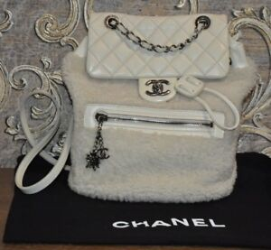 fc7480225676 Image is loading Authentic-CHANEL-Paris-Salzburg-Mountain -Shearling-Quilted-Calfskin-