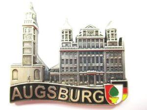 Augsburg-Magnet-Metall-Souvenir-Germany-Deutschland-Neu