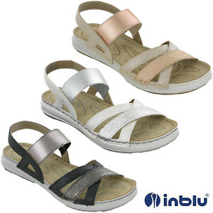 Womens Leather Slingback Sandals Flat