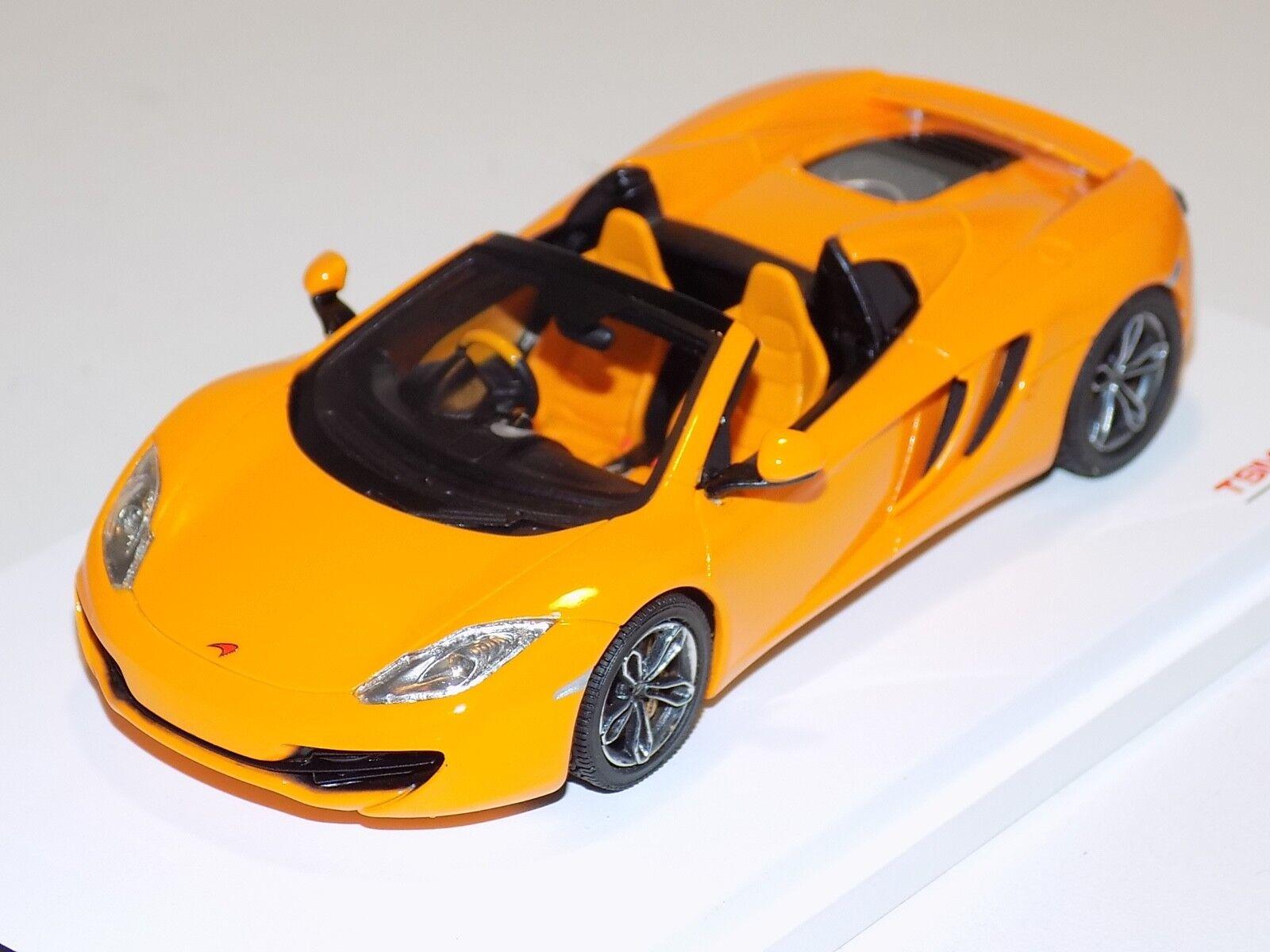 1 43 TRUE SCALE TSM McLaren MP4-12 C Spider en Orange de 2013 RHD TSM134337