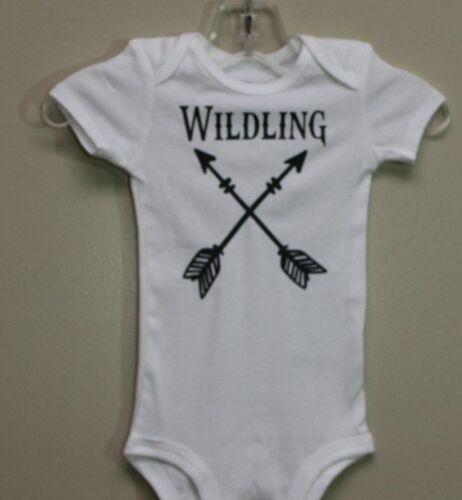 Game of Thrones Baby Infant One Piece Bodysuit Custom Made * WILDLING