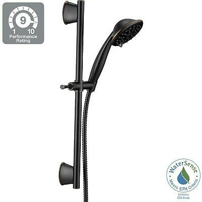 Bathroom Wall Bar Shower Kit 1.75 GPM 3-Spray Setting Adjustable Slide