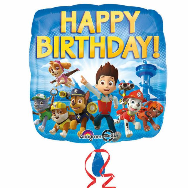 Paw Patrol Geburtstags Ballon | Folienballon 43 cm | Luftballon Heliumballon