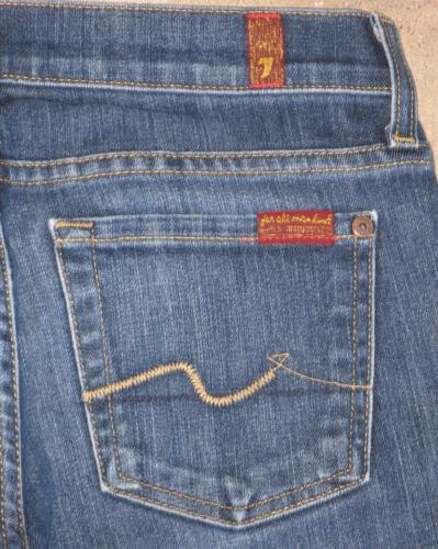 Jean For All Stretch Mankind Distressed Bootcut 7 Wash Woman 26 Sz 6Iqgdgw