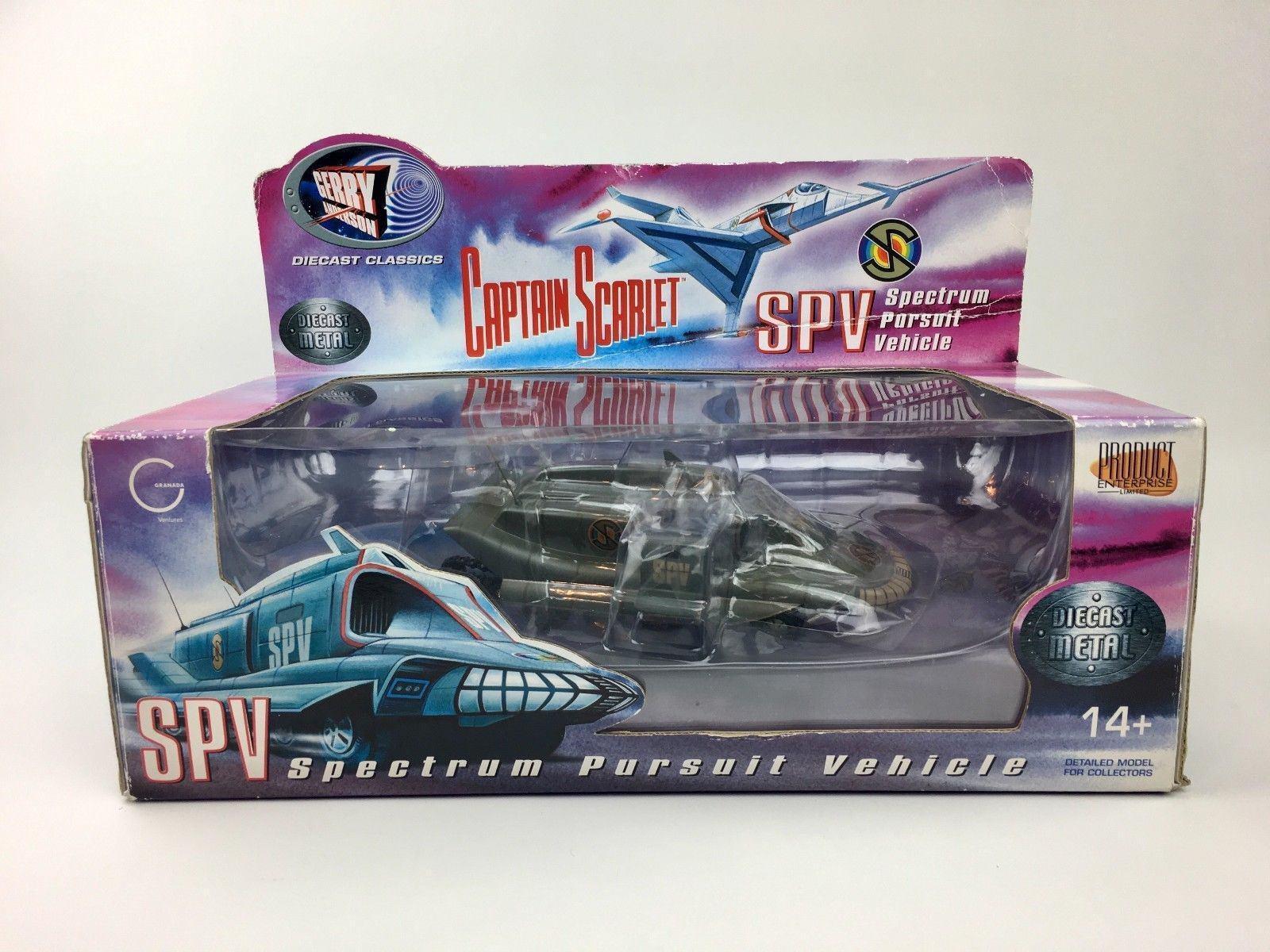 Raro MODELLO DieCast SPV Spectrum Pursuit Vehicle CAPITAN SCARLET Originale