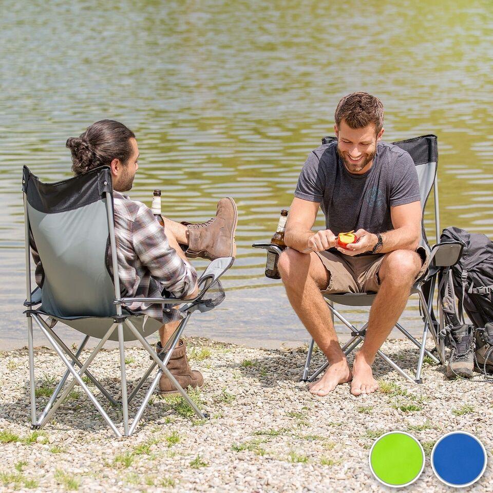4 Campingstole enkelt blå