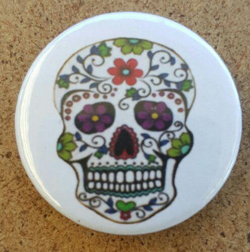 Mexican Sugar Skulls Pin Back Badge Set