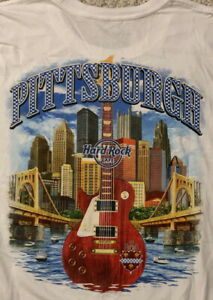 Hard-Rock-Cafe-PITTSBURGH-2017-City-Tee-White-T-SHIRT-2X-XXL-Men-039-s-New-Tags-V17