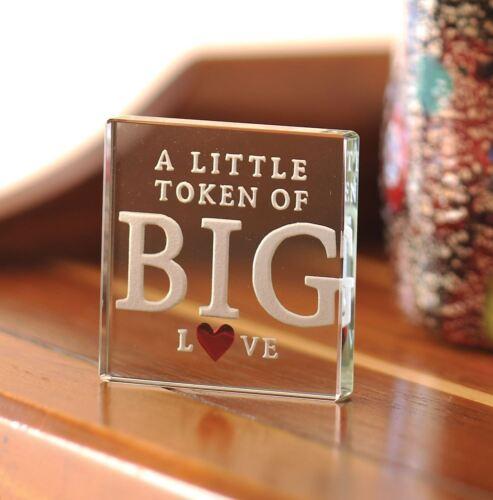 Verre Spaceform Miniature Jeton un petit jeton de Big Love Cadeau St-Valentin 1836