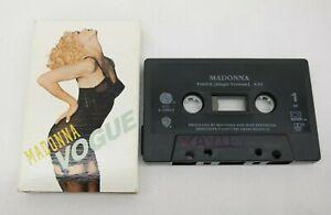 MADONNA: Vogue US Sire Cassette Tape Single Slip Cover EL