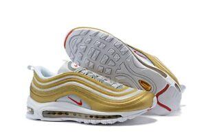 Details about Nike Mens Sneaker Nike Air Max 97 Metallic GoldUniversity Red BV0306 700