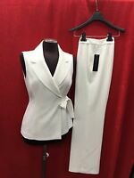 Albert Nipon Pant Suit/new With Tag/retail$280/size 12/inseam 32/off White