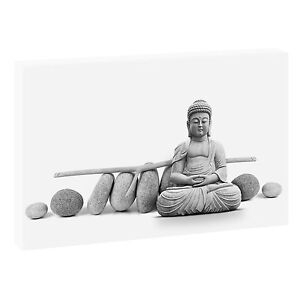 buddha sw bild auf leinwand keilrahmen feng shui poster xxl 120 cm 80 cm 103 sw. Black Bedroom Furniture Sets. Home Design Ideas