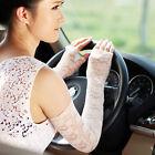 Lace Fingerless UV Protection Sun Block Dressing Wedding Driving Gloves Sleeve#1