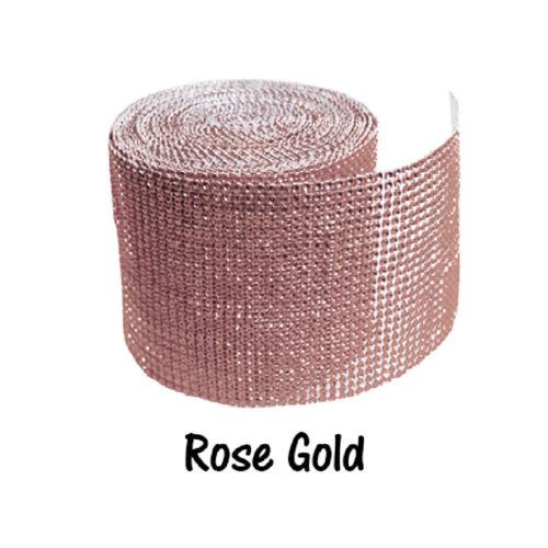 Diamond Rhinestone Ribbon Mesh Wrap Wedding Party Floral Decorations Supplies