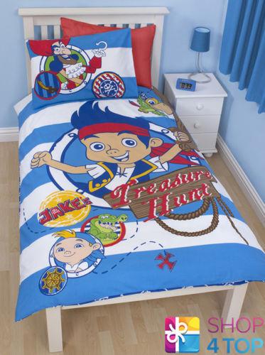 Jake Und Nimmerland Piraten Dublone Einzelbett Bettbezug Kissenbezug Set Kinder