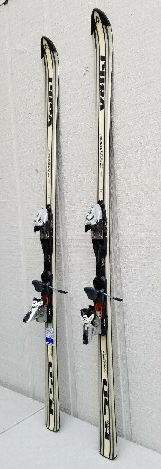 VOLKL P50 Platinum Energy All Mountain Skis Titanium 1200 Marker Bindings W  Bag