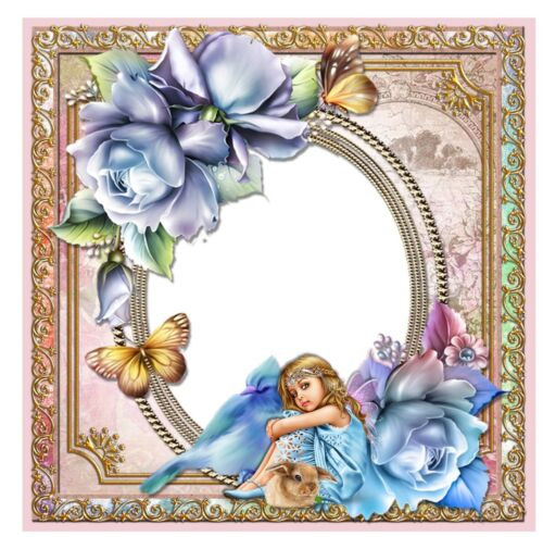 personalised to suit Gorgeous /'Fairy/' card with blue theme for a little girl