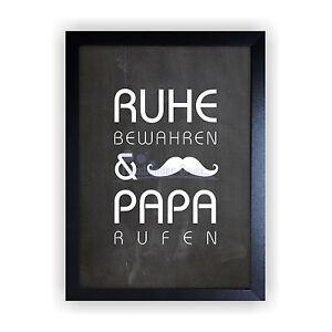 kunstdruck im bilderrahmen papa geschenk vatertag hochzeit geburtstag bild kd11 ebay. Black Bedroom Furniture Sets. Home Design Ideas