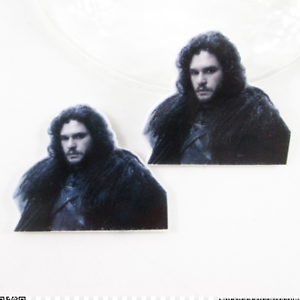 Jon Snow pack of 5 Game of Thrones Planar Resin flatback 30 x 27mm