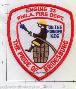 Pennsylvania - Philadelphia Engine 33 PA Fire Dept Patch