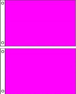 ( Pack 2 Lot) 2x3 Magenta Solide Blanc Uni Couleur Drapeau 0.6mx3 'bannière Nzn22igr-10132852-247709720