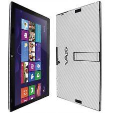 Skinomi Carbon Fiber Silver Skin+Screen Protec for Sony Vaio Tap 11 SVT11213CXB